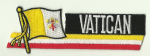 Vatican City Embroidered Flag Patch, style 01.
